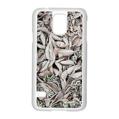 Ice Leaves Frozen Nature Samsung Galaxy S5 Case (white)