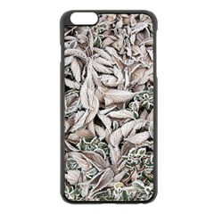 Ice Leaves Frozen Nature Apple Iphone 6 Plus/6s Plus Black Enamel Case