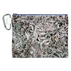 Ice Leaves Frozen Nature Canvas Cosmetic Bag (XXL)