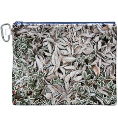 Ice Leaves Frozen Nature Canvas Cosmetic Bag (XXXL)