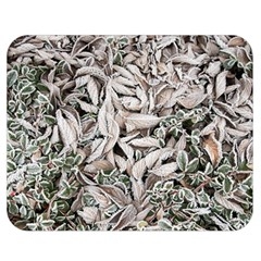 Ice Leaves Frozen Nature Double Sided Flano Blanket (medium)