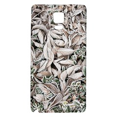 Ice Leaves Frozen Nature Galaxy Note 4 Back Case