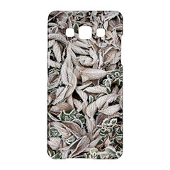 Ice Leaves Frozen Nature Samsung Galaxy A5 Hardshell Case