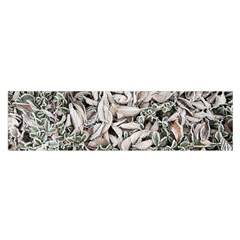 Ice Leaves Frozen Nature Satin Scarf (oblong)