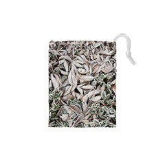 Ice Leaves Frozen Nature Drawstring Pouches (xs)