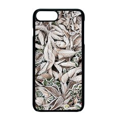 Ice Leaves Frozen Nature Apple iPhone 7 Plus Seamless Case (Black)