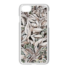 Ice Leaves Frozen Nature Apple Iphone 7 Seamless Case (white)