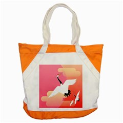 Goose Swan Pink Orange White Animals Fly Accent Tote Bag