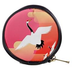 Goose Swan Pink Orange White Animals Fly Mini Makeup Bags