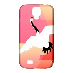 Goose Swan Pink Orange White Animals Fly Samsung Galaxy S4 Classic Hardshell Case (PC+Silicone)
