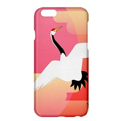 Goose Swan Pink Orange White Animals Fly Apple iPhone 6 Plus/6S Plus Hardshell Case