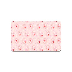 Flower Arrangements Season Pink Magnet (name Card)