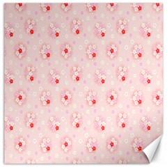 Flower Arrangements Season Pink Canvas 16  x 16