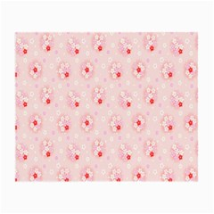 Flower Arrangements Season Pink Small Glasses Cloth (2-Side)