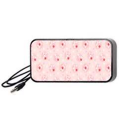 Flower Arrangements Season Pink Portable Speaker (Black)