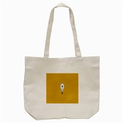 Idea Lamp White Orange Tote Bag (cream)