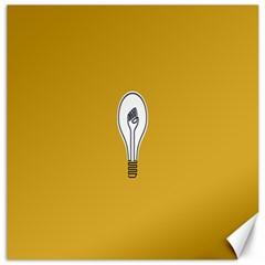 Idea Lamp White Orange Canvas 20  x 20