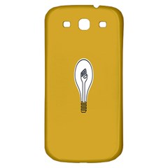 Idea Lamp White Orange Samsung Galaxy S3 S III Classic Hardshell Back Case