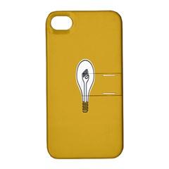 Idea Lamp White Orange Apple Iphone 4/4s Hardshell Case With Stand