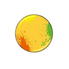 Paint Stains Spot Yellow Orange Green Hat Clip Ball Marker (4 Pack)