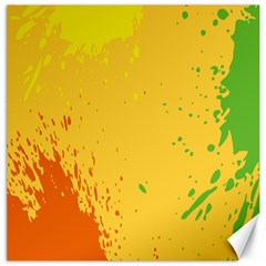 Paint Stains Spot Yellow Orange Green Canvas 20  x 20