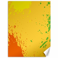 Paint Stains Spot Yellow Orange Green Canvas 36  x 48