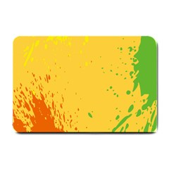 Paint Stains Spot Yellow Orange Green Small Doormat