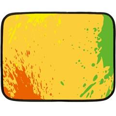 Paint Stains Spot Yellow Orange Green Fleece Blanket (mini)