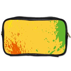 Paint Stains Spot Yellow Orange Green Toiletries Bags