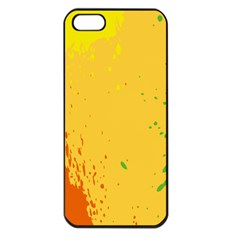 Paint Stains Spot Yellow Orange Green Apple Iphone 5 Seamless Case (black)
