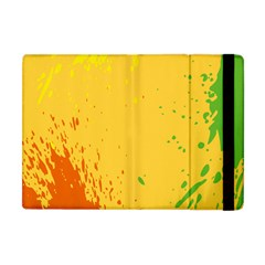 Paint Stains Spot Yellow Orange Green Apple iPad Mini Flip Case