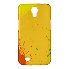 Paint Stains Spot Yellow Orange Green Samsung Galaxy Mega 6.3  I9200 Hardshell Case