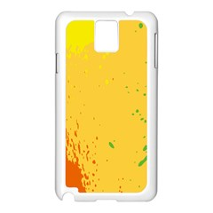 Paint Stains Spot Yellow Orange Green Samsung Galaxy Note 3 N9005 Case (White)