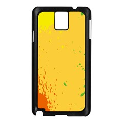 Paint Stains Spot Yellow Orange Green Samsung Galaxy Note 3 N9005 Case (Black)