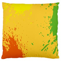 Paint Stains Spot Yellow Orange Green Standard Flano Cushion Case (Two Sides)