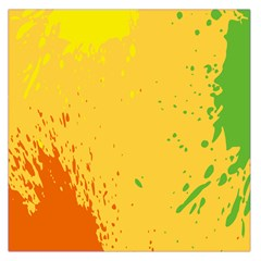 Paint Stains Spot Yellow Orange Green Large Satin Scarf (square)