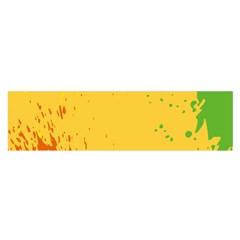 Paint Stains Spot Yellow Orange Green Satin Scarf (Oblong)