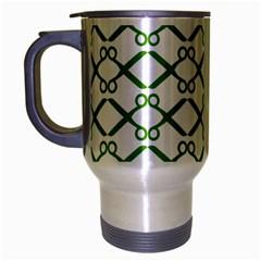 Scissor Green Travel Mug (Silver Gray)