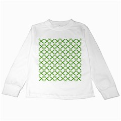 Scissor Green Kids Long Sleeve T Shirts
