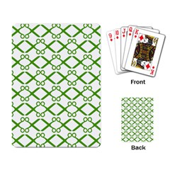Scissor Green Playing Card