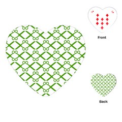 Scissor Green Playing Cards (Heart)