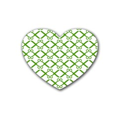 Scissor Green Heart Coaster (4 pack)