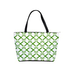 Scissor Green Shoulder Handbags