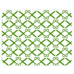 Scissor Green Double Sided Flano Blanket (Medium)