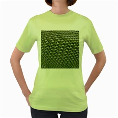 Mandelbuld 3d Metalic Women s Green T Shirt