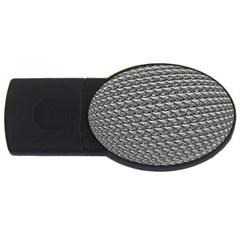 Mandelbuld 3d Metalic Usb Flash Drive Oval (4 Gb)