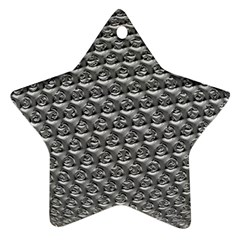 Mandelbuld 3d Metalic Star Ornament (Two Sides)