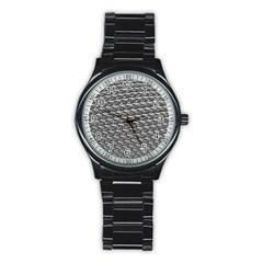 Mandelbuld 3d Metalic Stainless Steel Round Watch