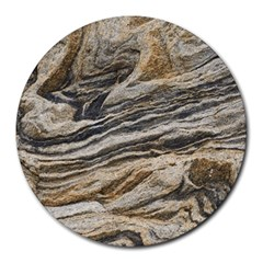 Rock Texture Background Stone Round Mousepads