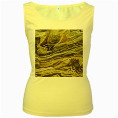 Rock Texture Background Stone Women s Yellow Tank Top